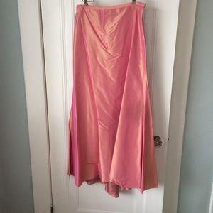 Pink Taffeta Formal Shimmer Skirt (Great for Prom)